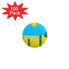 Cactus 1  Mini Button Magnet (100 Pack) by NickGreenaway