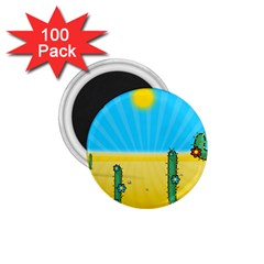 Cactus 1 75  Button Magnet (100 Pack) by NickGreenaway