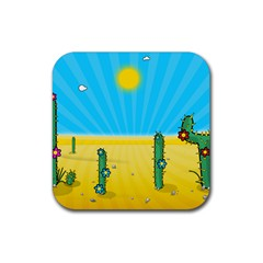 Cactus Drink Coasters 4 Pack (square) by NickGreenaway