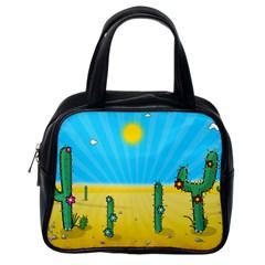 Cactus Classic Handbag (one Side) by NickGreenaway