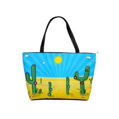 Cactus Large Shoulder Bag by NickGreenaway