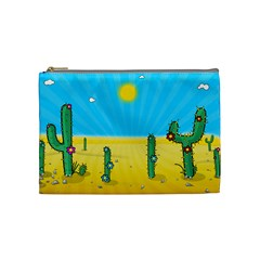 Cactus Cosmetic Bag (medium) by NickGreenaway