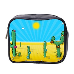 Cactus Mini Travel Toiletry Bag (two Sides) by NickGreenaway