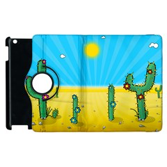 Cactus Apple Ipad 3/4 Flip 360 Case by NickGreenaway