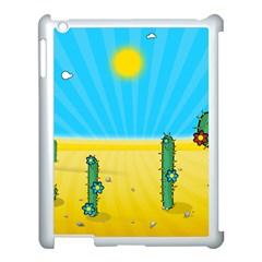 Cactus Apple Ipad 3/4 Case (white) by NickGreenaway