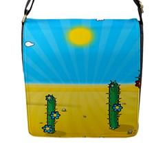 Cactus Flap Closure Messenger Bag (large) by NickGreenaway