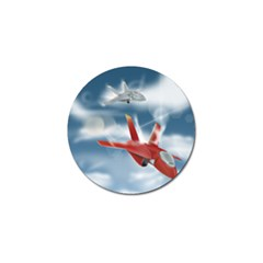 America Jet Fighter Air Force Golf Ball Marker 10 Pack by NickGreenaway