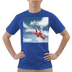 America Jet Fighter Air Force Men s T Shirt (colored) by NickGreenaway