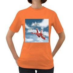 America Jet Fighter Air Force Women s T Shirt (colored) by NickGreenaway