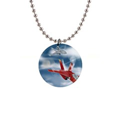 America Jet Fighter Air Force Button Necklace by NickGreenaway