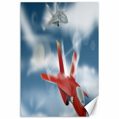 America Jet Fighter Air Force Canvas 12  X 18  (unframed) by NickGreenaway