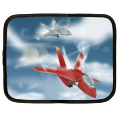America Jet Fighter Air Force Netbook Sleeve (xl) by NickGreenaway