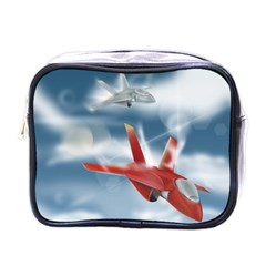 America Jet Fighter Air Force Mini Travel Toiletry Bag (one Side) by NickGreenaway