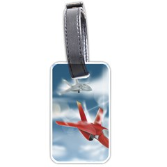 America Jet Fighter Air Force Luggage Tag (two Sides) by NickGreenaway