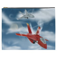America Jet Fighter Air Force Cosmetic Bag (xxxl) by NickGreenaway