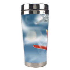 America Jet Fighter Air Force Stainless Steel Travel Tumbler by NickGreenaway