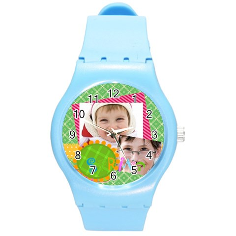 Easter By Easter   Round Plastic Sport Watch (m)   7a5esj0vtnsk   Www Artscow Com Front