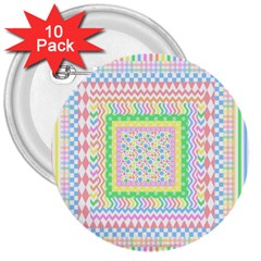Layered Pastels 3  Button (10 Pack) by StuffOrSomething