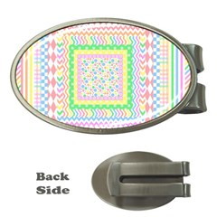 Layered Pastels Money Clip (oval) by StuffOrSomething