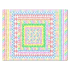Layered Pastels Jigsaw Puzzle (rectangle) by StuffOrSomething