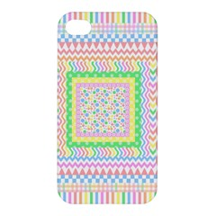 Layered Pastels Apple Iphone 4/4s Premium Hardshell Case by StuffOrSomething