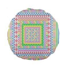 Layered Pastels 15  Premium Round Cushion  by StuffOrSomething