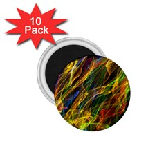 Colourful Flames  1 75  Button Magnet (10 Pack) by Colorfulart23