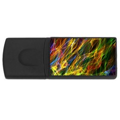 Colourful Flames  2GB USB Flash Drive (Rectangle) by Colorfulart23