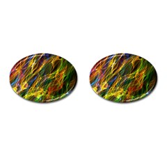 Colourful Flames  Cufflinks (Oval) by Colorfulart23