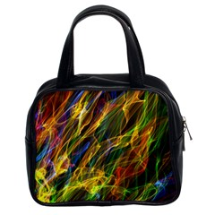 Colourful Flames  Classic Handbag (two Sides) by Colorfulart23