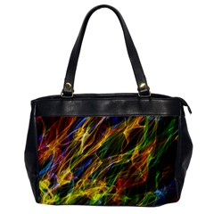 Colourful Flames  Oversize Office Handbag (One Side) by Colorfulart23