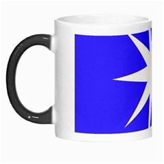 Deep Blue And White Star Morph Mug by Colorfulart23