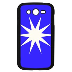 Deep Blue And White Star Samsung Galaxy Grand Duos I9082 Case (black) by Colorfulart23