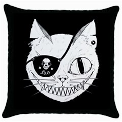 Cat Pirate s Life for Me Black Throw Pillow Case by Contest1879409