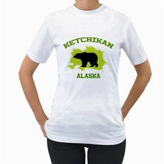 Ketchikan  Ak Women s Two-sided T-shirt (White) by thistimeonly