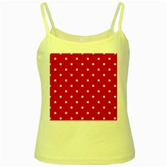 White Stars On Red Yellow Spaghetti Tank by StuffOrSomething