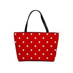 White Stars On Red Large Shoulder Bag by StuffOrSomething