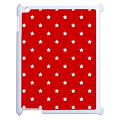 White Stars On Red Apple Ipad 2 Case (white) by StuffOrSomething