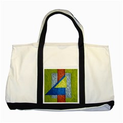 Abstract Two Toned Tote Bag by Siebenhuehner