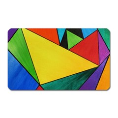 Abstract Magnet (rectangular) by Siebenhuehner