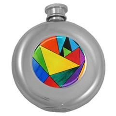 Abstract Hip Flask (Round) by Siebenhuehner