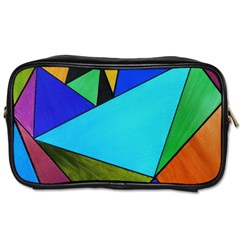 Abstract Travel Toiletry Bag (one Side) by Siebenhuehner