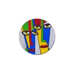 Face Golf Ball Marker 4 Pack by Siebenhuehner