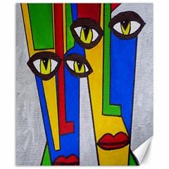 Face Canvas 8  X 10  (unframed) by Siebenhuehner