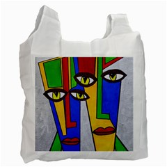 Face Recycle Bag (one Side) by Siebenhuehner
