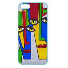 Face Apple Seamless Iphone 5 Case (color) by Siebenhuehner