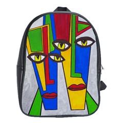 Face School Bag (xl) by Siebenhuehner