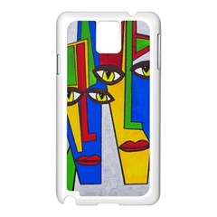 Face Samsung Galaxy Note 3 N9005 Case (white) by Siebenhuehner