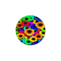 Colorful Sunflowers Golf Ball Marker 4 Pack by StuffOrSomething