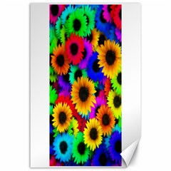 Colorful Sunflowers Canvas 24  X 36  (unframed) by StuffOrSomething